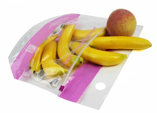 Stand Up Fresh Fruit Bag WIth Zipper