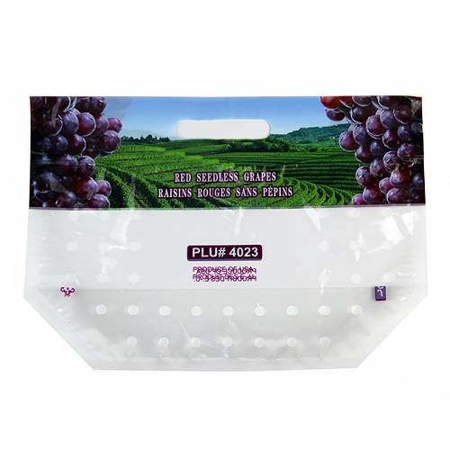 Plastic Grape Bag With Air Hole